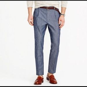 J.Crew Wallace & Barnes slim fit chambray trousers